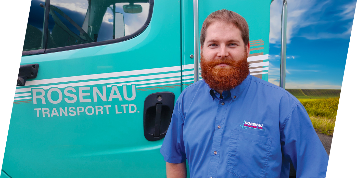 Rosenau Transport employee who provides trucking services